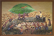 Ants Paintings - Naik Daun by Gatot Wijoyo