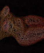 Nude Digital Art - Naked Swirls V3 by James Barnes
