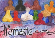 Namaste Painting Framed Prints - Namaste Framed Print by Anne Olivier