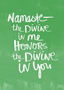 Namaste Card Print by Linda Woods