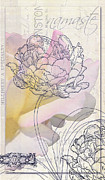 Bath Mixed Media - Namaste Hydrangea Collage by Adspice Studios