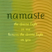 Religious Art Digital Art Prints - Namaste Print by Michelle Calkins