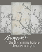 Namaste Digital Art Prints - Namaste Quote Print by Ann Powell