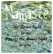 Textual Images - Namaste with Crystal Waters by Michelle Calkins