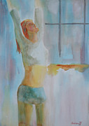 Namaste Paintings - Namaste Yoga by Robert P Hedden