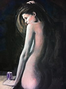 Power Girl Nude Painting Framed Prints - Nameless Beauty Framed Print by Faith Jacobson