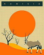 Namibia Prints - Namibia Travel Poster Print by Jazzberry Blue