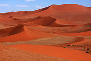 West Africa Framed Prints - Namibian Red Sand Dunes  Framed Print by Aidan Moran