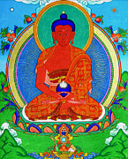 Good Luck Prints - Namo Amitabha Buddha 16 Print by Lanjee Chee
