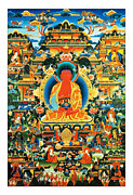 Amitabha Photo Framed Prints - Namo Amitabha Buddha 24 Framed Print by Lanjee Chee