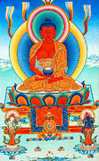 Amitabha Photo Framed Prints - Namo Amitabha Buddha 35 Framed Print by Lanjee Chee