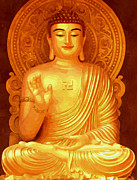 Amitabha Photo Framed Prints - Namo Amitabha Buddha 36 Framed Print by Lanjee Chee