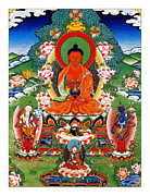 Amitabha Photo Framed Prints - Namo Amitabha Buddha 40 Framed Print by Lanjee Chee