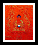 Amitabha Photo Framed Prints - Namo Amitabha Buddha 7 Framed Print by Lanjee Chee