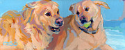 Golden Lab Paintings - Nana Nana Na Na by Kimberly Santini