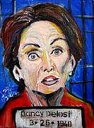 Democrat Paintings - Nancy Pelosi Devil by Jon Baldwin  Art