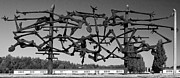 Gild Framed Prints - Nandor Gild sculpture in Dachau Framed Print by Denis Grenier