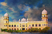 Red Buildings Posters - Nankana Sahib Poster by Catf