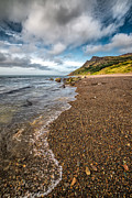 British Digital Art Prints - Nant Gwrtheyrn Shore Print by Adrian Evans