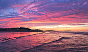 Nantasket Beach Framed Prints - Nantasket Sunset Framed Print by Patricia Abbate