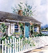 Nantucket Paintings - Nantucket Cottage by Patty  Frierson