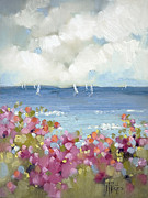 Nantucket Paintings - Nantucket Sea Roses by Joyce Hicks