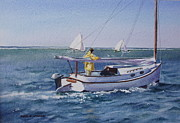 Nantucket Sound Catboat Print by Karol Wyckoff