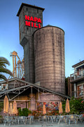 Silos Posters - Napa Mill II Poster by Bill Gallagher
