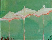 Napa Valley Mixed Media - Napa Three Umbrellas by Rebecca Lou Mudd