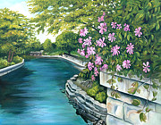 Riverwalk Originals - Naperville Riverwalk by Debbie Hart