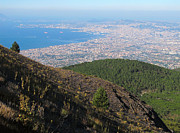 Napoli Photos - Naples Bay View from Mount Vesuvius by Kiril Stanchev