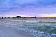 Elaine Manley - Naples Beach Pier at...