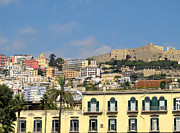 Mediterranean Landscape Prints - Naples colorful city view Print by Kiril Stanchev