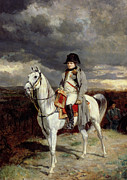 Napoleon Paintings - Napoleon Bonaparte by Jean-Louis Ernest Meissonier