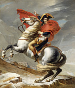 Military Painting Framed Prints - Napoleon Bonaparte on Horseback Framed Print by War Is Hell Store