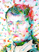 Napoleon Paintings - NAPOLEON BONAPARTE - watercolor portrait by Fabrizio Cassetta