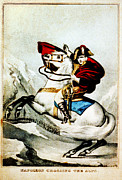 Napoleon Digital Art - Napoleon Crossing the Alps by Digital Reproductions