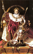 Napoleon Digital Art - Napoleon I on His Imperial Throne by Jean Auguste Dominique Ingres