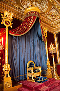 Chateaux Photos - Napoleons Throne at Chateaux Fontainbleau by Jon Berghoff