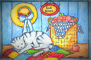Naptime Kitty Print by MarLa Hoover