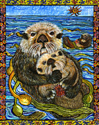 Otter Paintings - Naptime by Melissa Cole