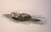 Otters Originals - Naptime on the Water by Andrea Flint Lapins