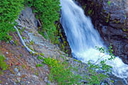 Mt Rainier Stream Framed Prints - Narada Falls - Mount Rainier National Park Framed Print by Connie Fox