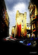 Stone Buildings Mixed Media - Narbonne Blaze by Chris Knights