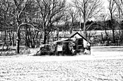 Snowy Digital Art - Narcissa Springhouse in Winter by Bill Cannon