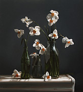 Larry Preston - NARCISSUS AND BOTTLES