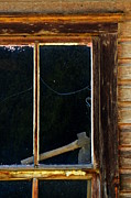 Cabin Window Painting Framed Prints - Narrative Fragment Framed Print by Newel Hunter