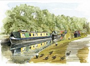 Colin Parker - Narrow boats on the...