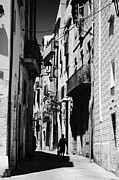 Roman Streets Prints - Narrow Medieval Streets On Top Of The Old Roman Ruins Of Tarraco Unesco World Heritage Site Tarragon Print by Joe Fox