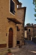 Narrow Street In Italian Village Print by Dany  Lison